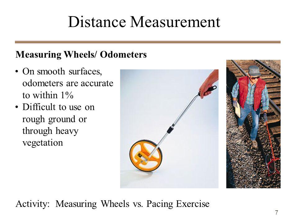 7 Measuring Wheels/ Odometers Activity: Measuring Wheels vs.