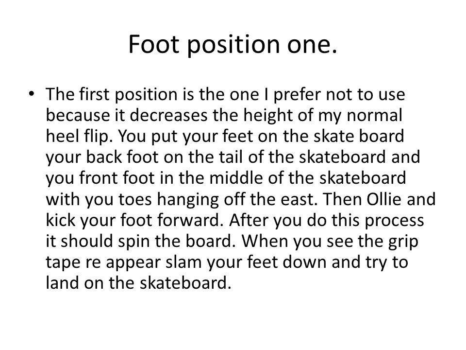 Foot position one.