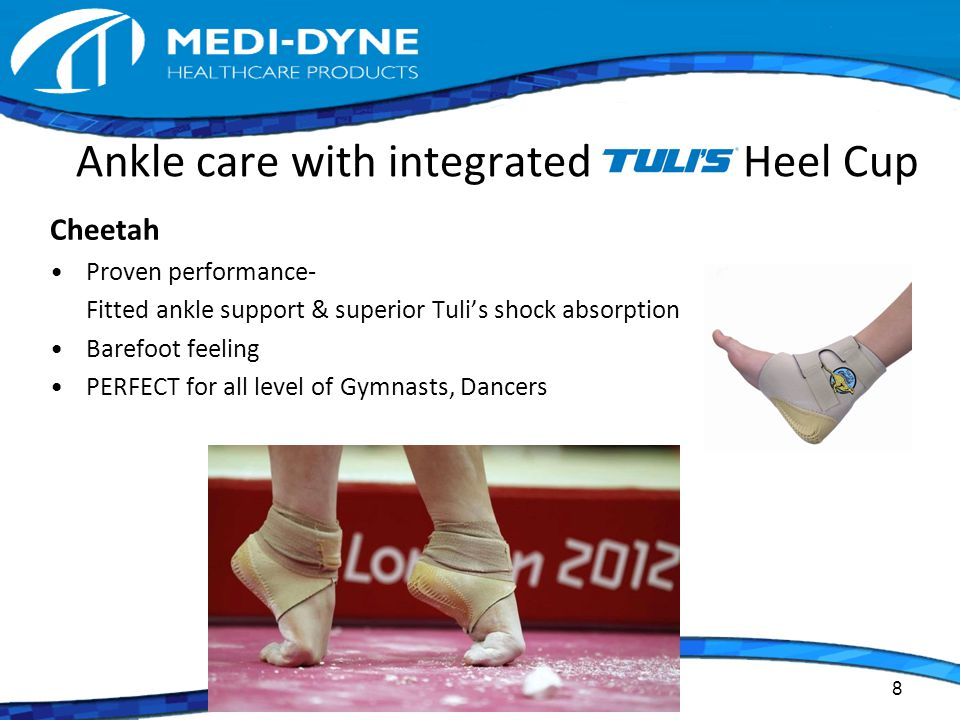 Ankle care with integrated Heel Cup Cheetah Proven performance- Fitted ankle support & superior Tuli's shock absorption Barefoot feeling PERFECT for all level of Gymnasts, Dancers 8