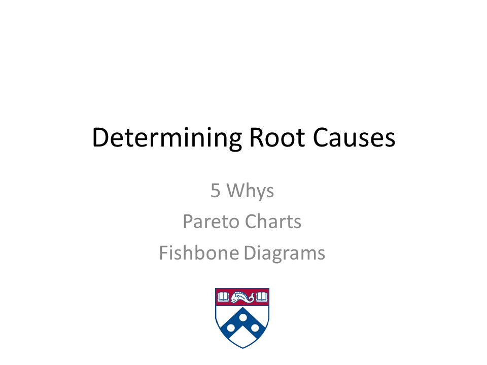 Determining Root Causes 5 Whys Pareto Charts Fishbone Diagrams