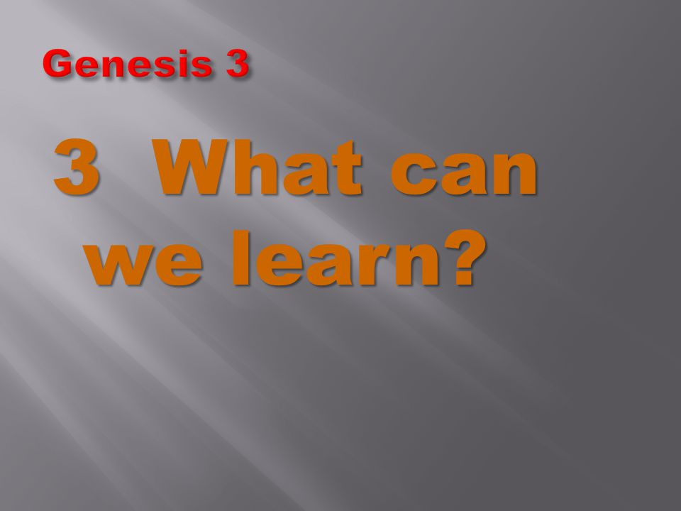 3 What can we learn