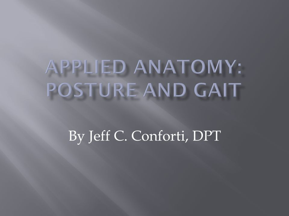 By Jeff C. Conforti, DPT