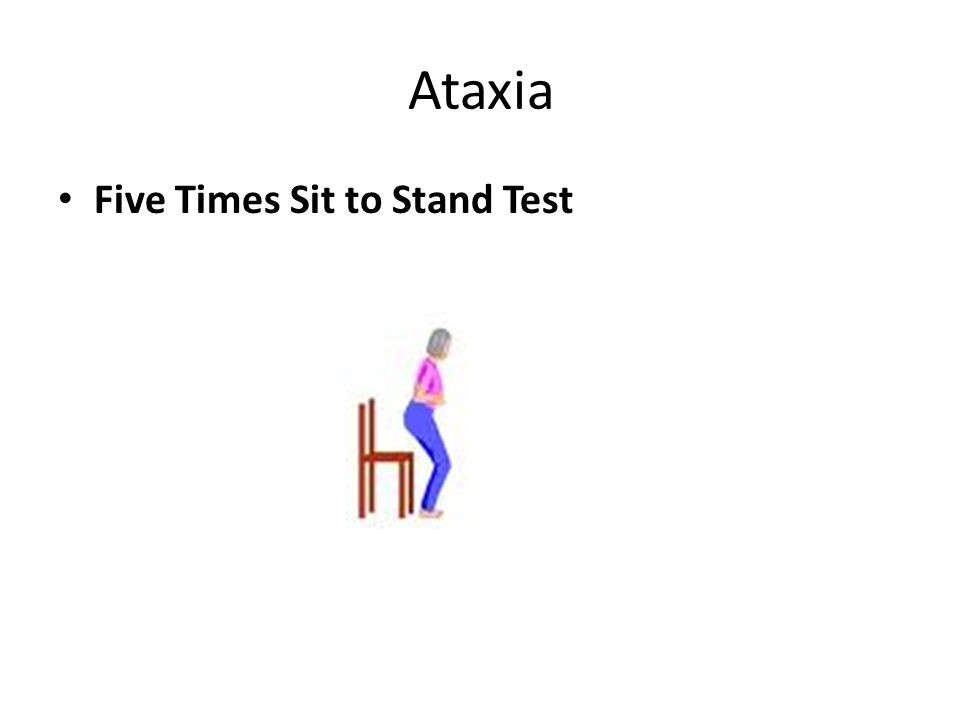 Ataxia Five Times Sit to Stand Test