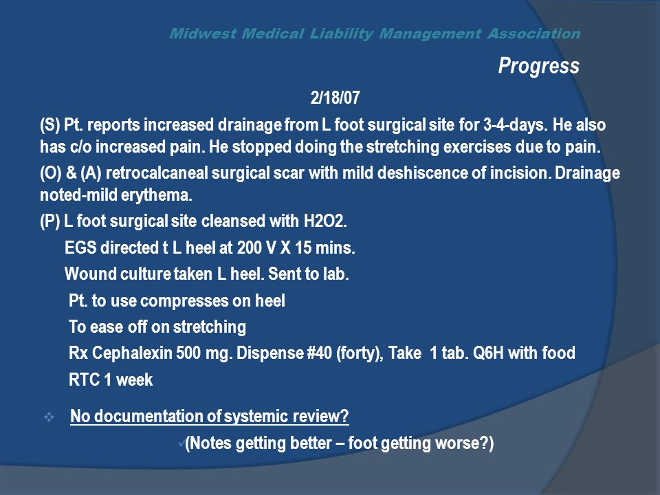 Midwest Medical Liability Management Association Progress 2/18/07 (S) Pt.