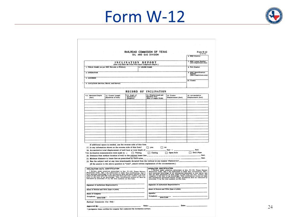 24 Form W-12