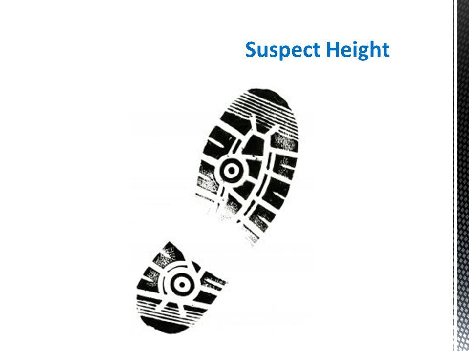 Suspect Height