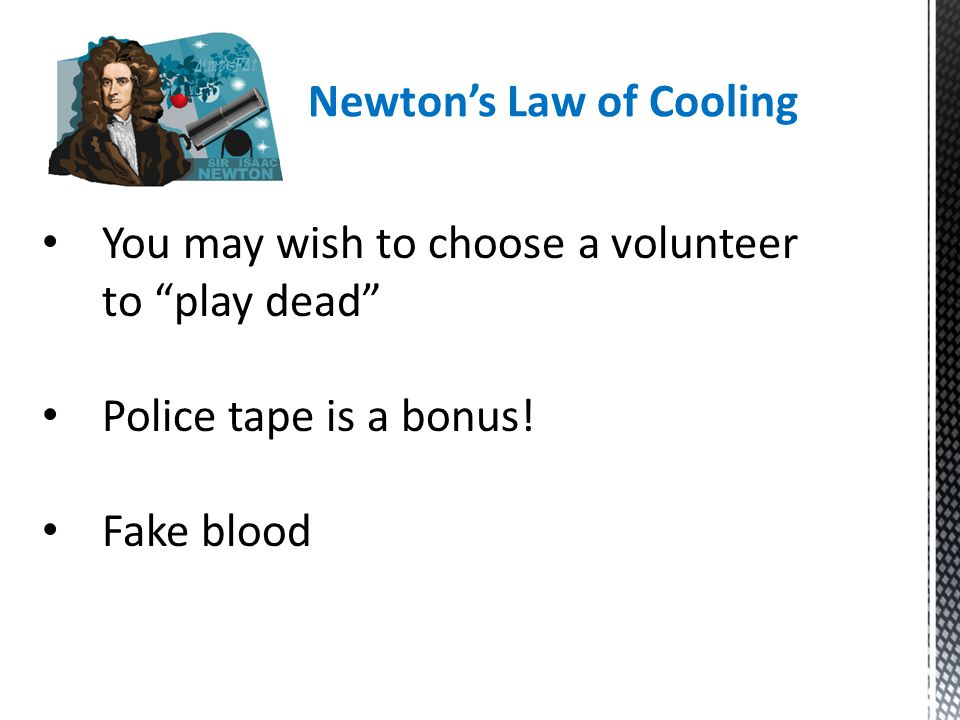 """You may wish to choose a volunteer to """"play dead"""" Police tape is a bonus! Fake blood"""