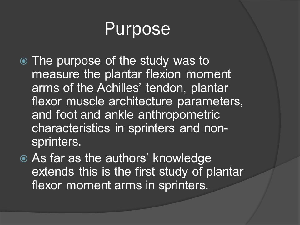 Purpose  The purpose of the study was to measure the plantar flexion moment arms of the Achilles' tendon, plantar flexor muscle architecture paramete