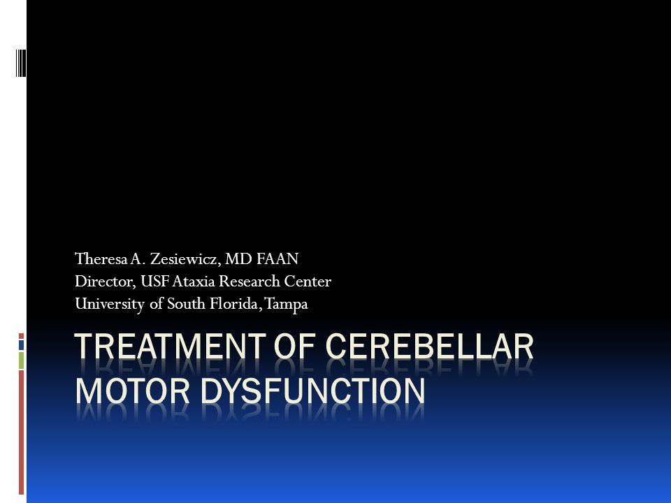 Cerebellar Ataxia  The cerebellum: structure in the brain that is paramount in maintaining balance.