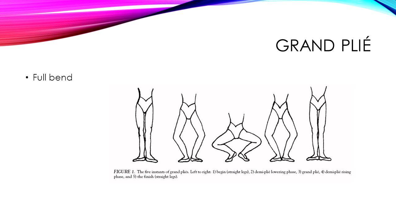 GRAND PLIÉ Full bend