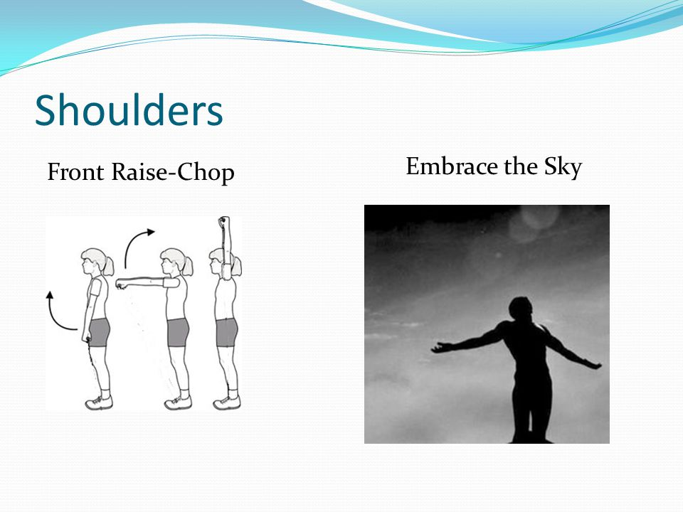 Shoulders Front Raise-Chop Embrace the Sky