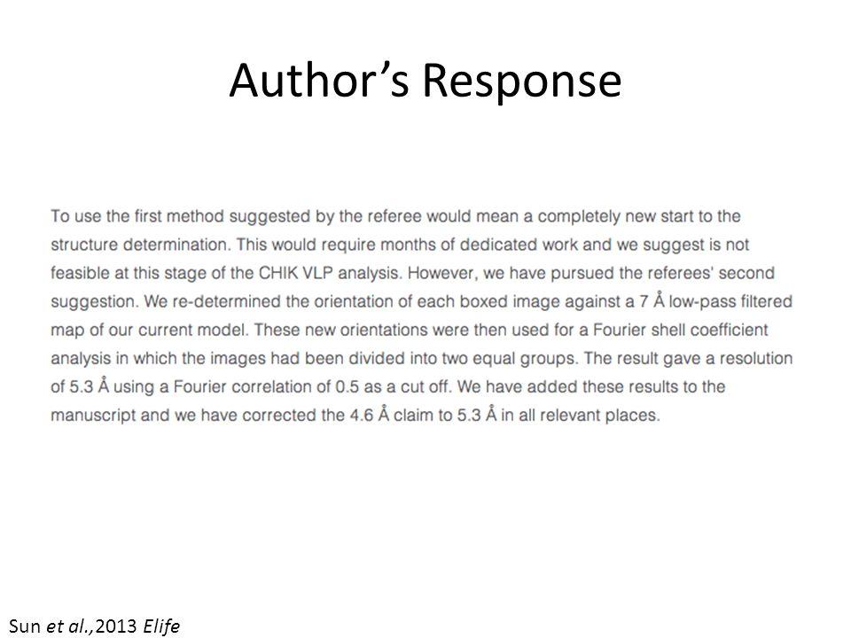 Author's Response Sun et al.,2013 Elife