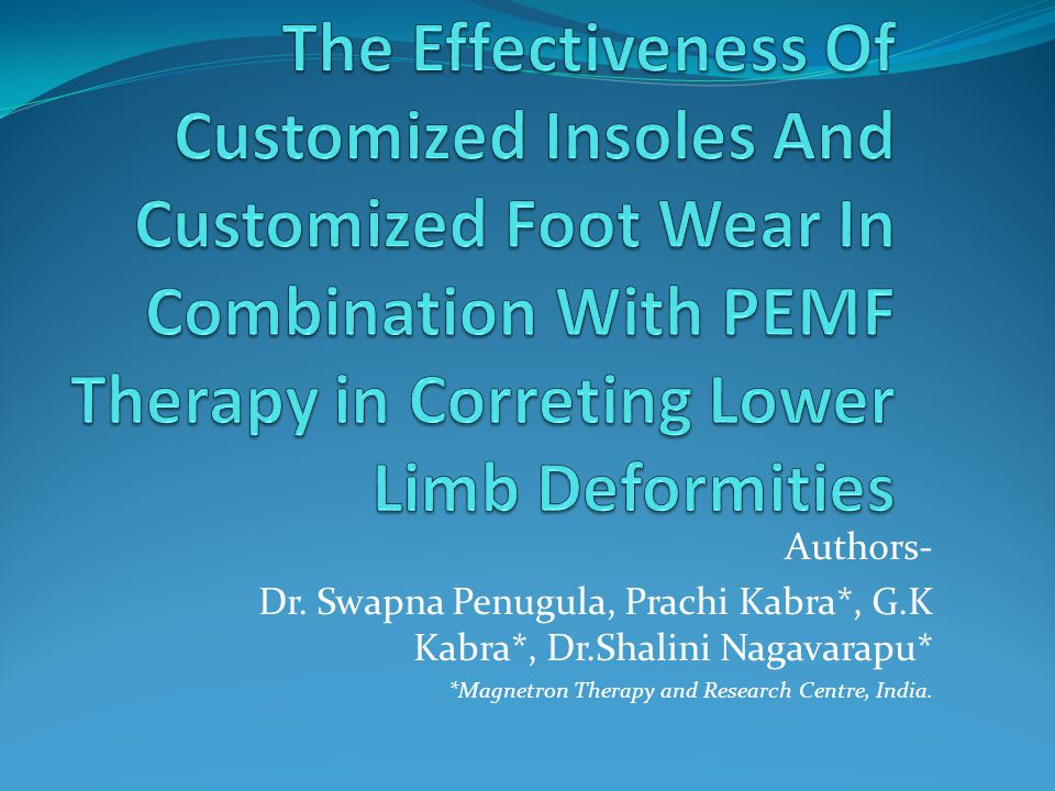 Authors- Dr. Swapna Penugula, Prachi Kabra*, G.K Kabra*, Dr.Shalini Nagavarapu* *Magnetron Therapy and Research Centre, India.