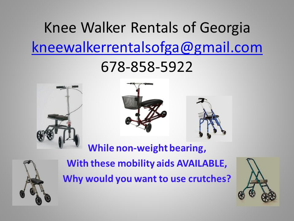 Who would benefit from renting a knee walker from Knee Walker Rentals.