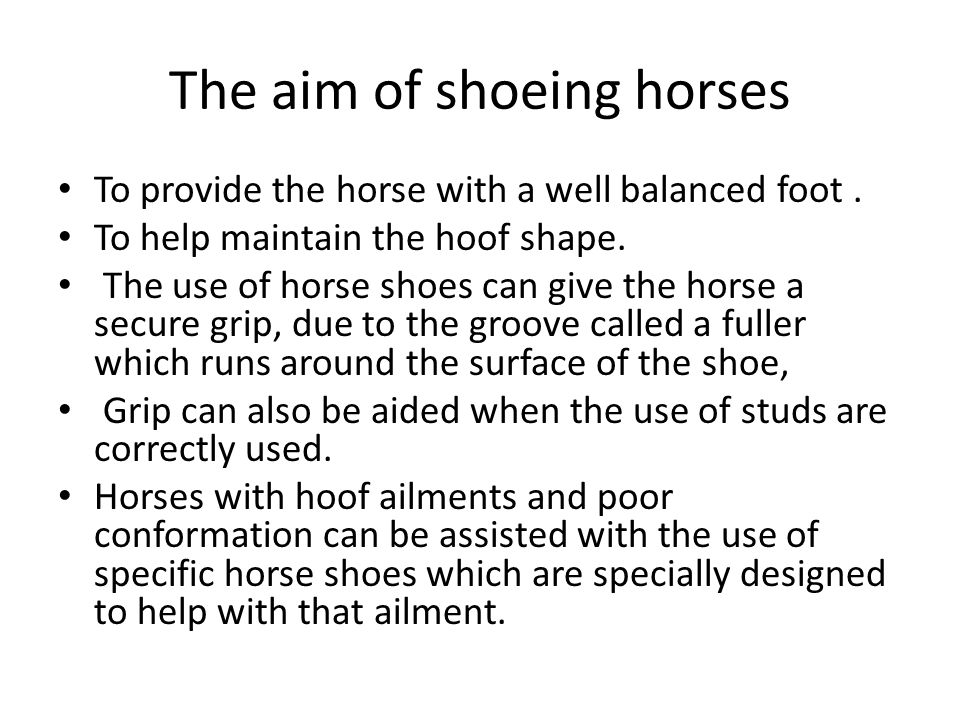 Hot shoeing Hot Shoeing In hot shoeing the old shoe is removed The hoof is expertly trimmed and re balanced.