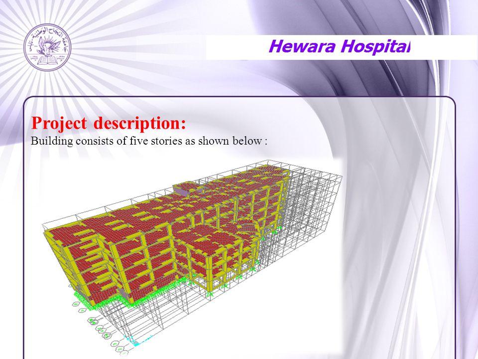 Project description: Building consists of five stories as shown below :