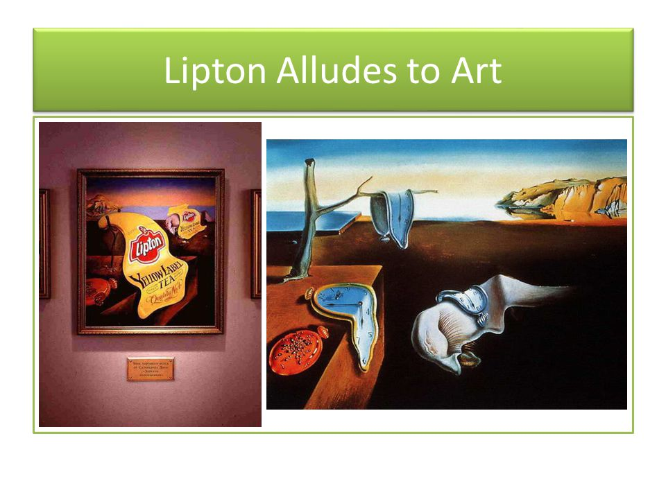 Lipton Alludes to Art