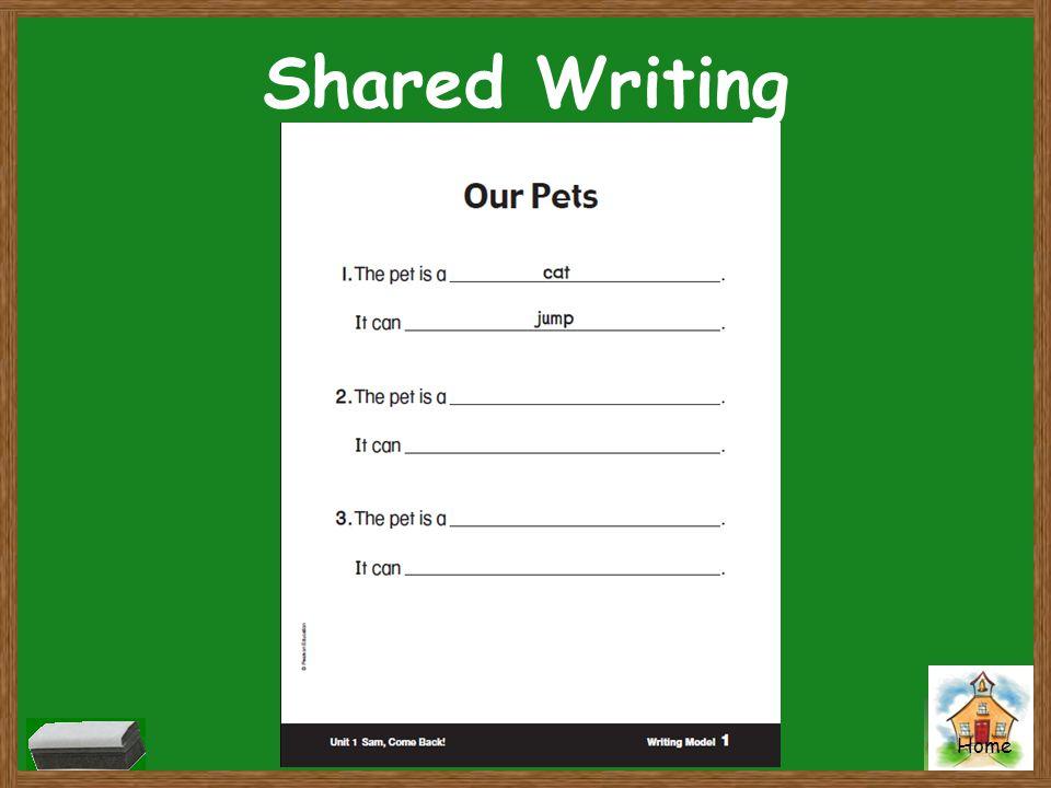 Home Shared Writing