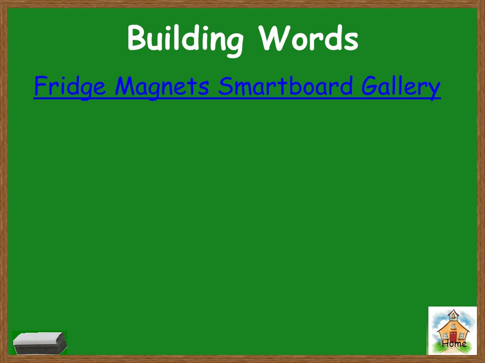 Home Building Words Fridge Magnets Smartboard Gallery