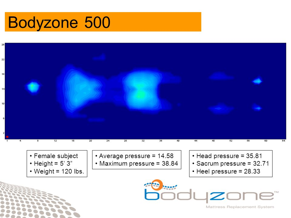 Bodyzone 300 Male subject Height = 6' 3 Weight = 250 lbs.
