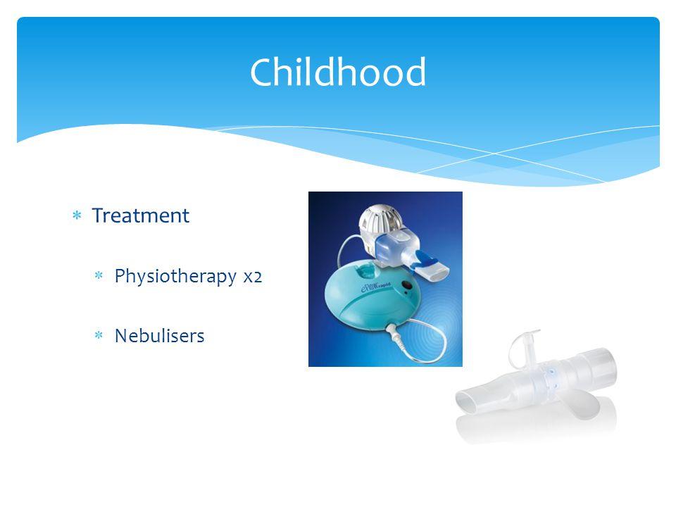  Treatment  Physiotherapy x2  Nebulisers Childhood