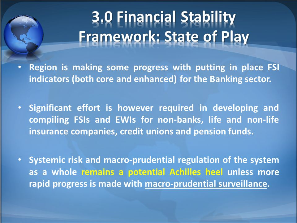 Region is making some progress with putting in place FSI indicators (both core and enhanced) for the Banking sector. Significant effort is however req