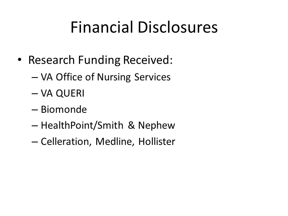 VA Wound Provider Survey 2014 Active inter-professional skin or PUP task force at your facility.