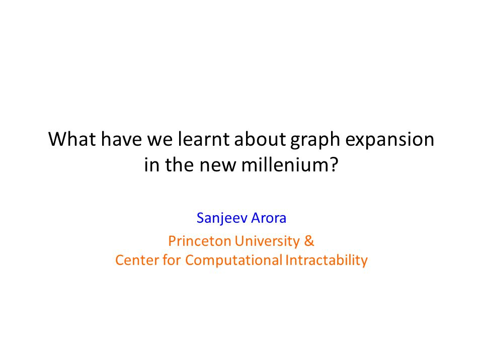 What have we learnt about graph expansion in the new millenium.