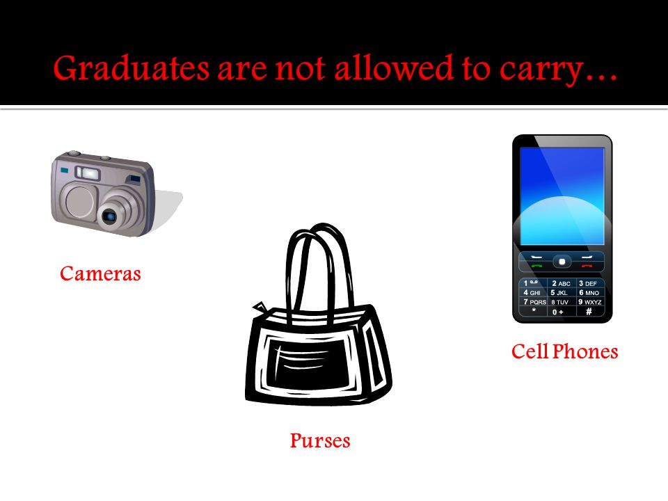 Cameras Purses Cell Phones