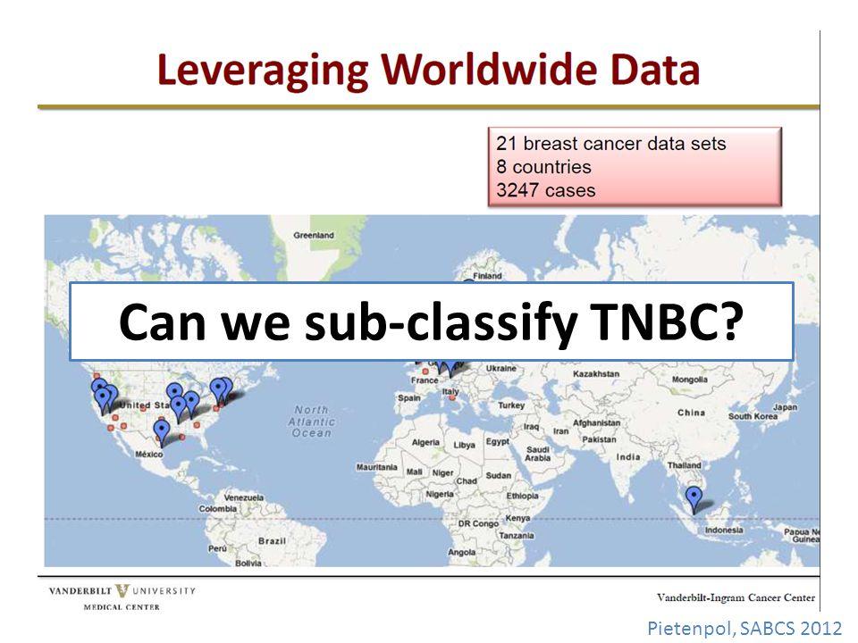 Can we sub-classify TNBC Pietenpol, SABCS 2012