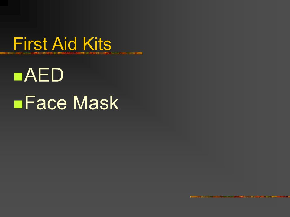 First Aid Kits AED Face Mask