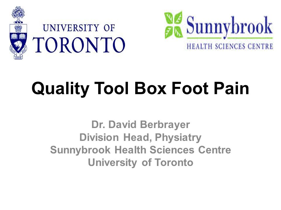 Quality Tool Box Foot Pain Dr.