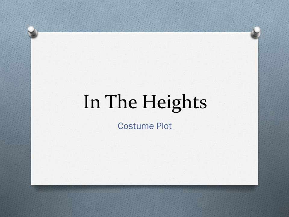 In The Heights Costume Plot