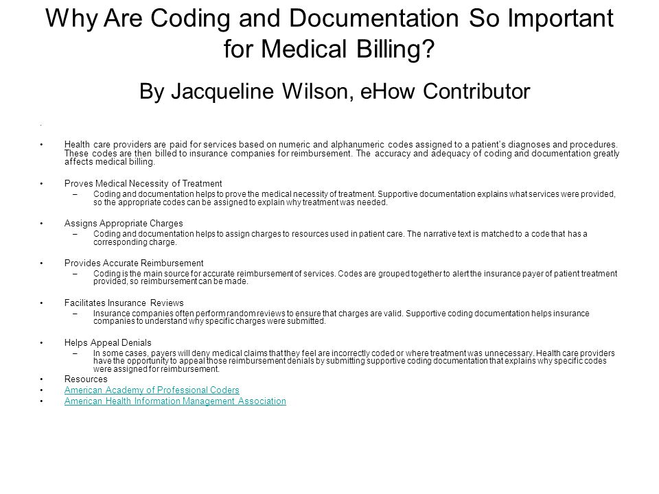 Why Are Coding and Documentation So Important for Medical Billing.