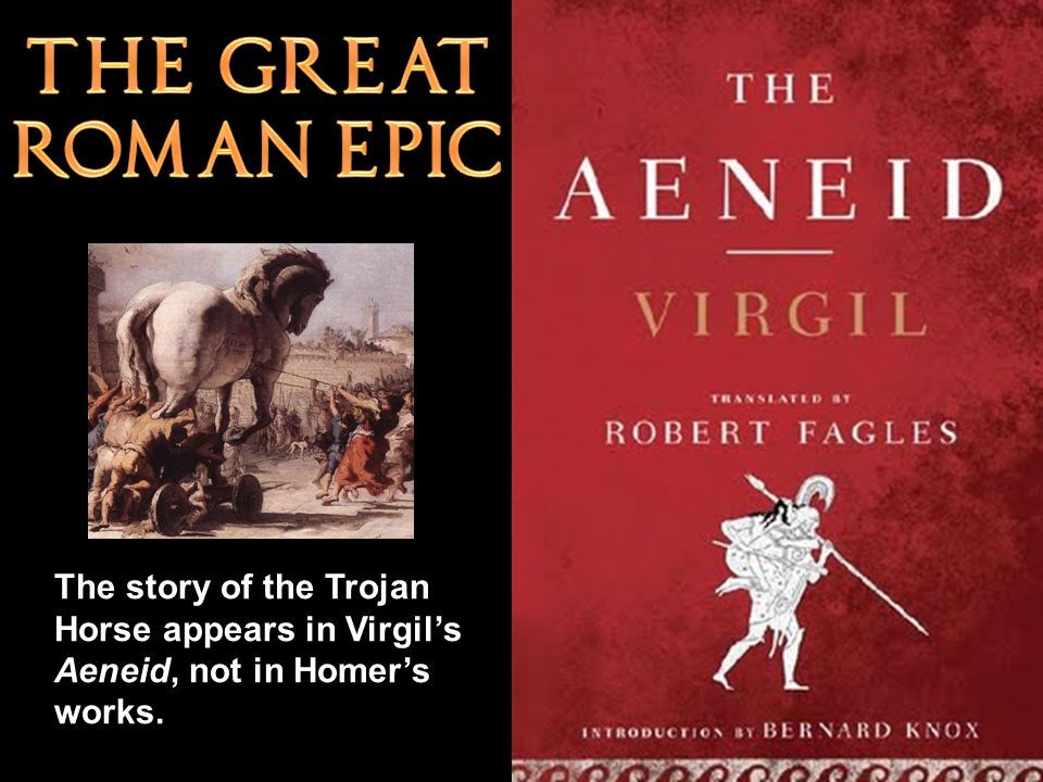 The story of the Trojan Horse appears in Virgil's Aeneid, not in Homer's works.