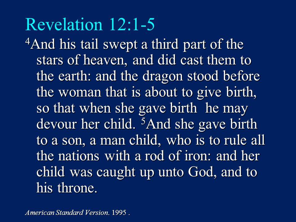 CAST OF 3 CHARACTERS Revelation 12:1-5 1.SON (v.5) 2. DRAGON (v. 3) 3. WOMAN (v.1)