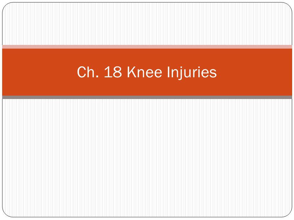 Knee Genu Valgum (knocked knee) Genu Varum (Bow legged) Genu Recurvatum (hyperextension)