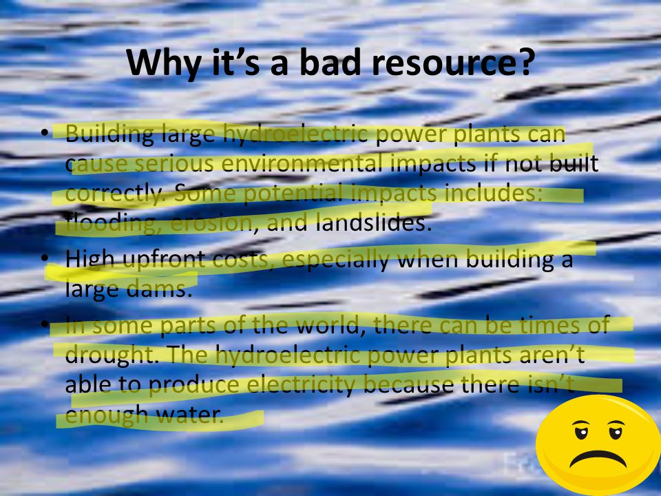 Why it's a bad resource.