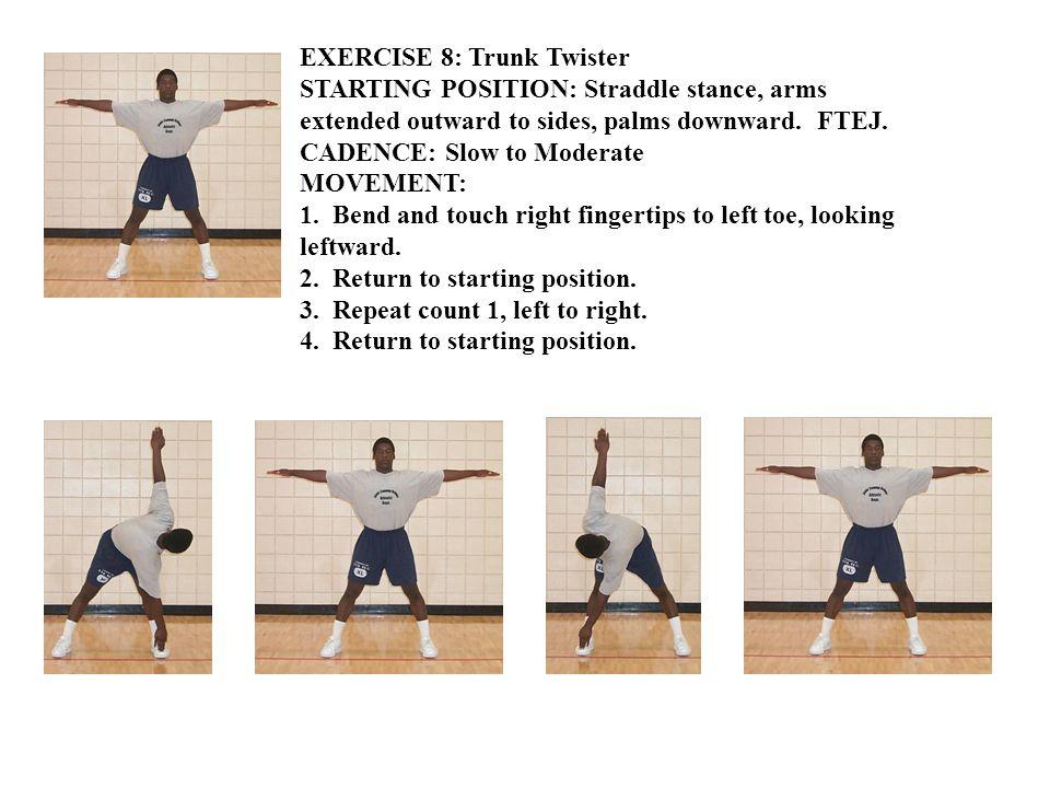 EXERCISE 9: Rear Lunge STARTING POSITION: Regular stance, hands on hips.