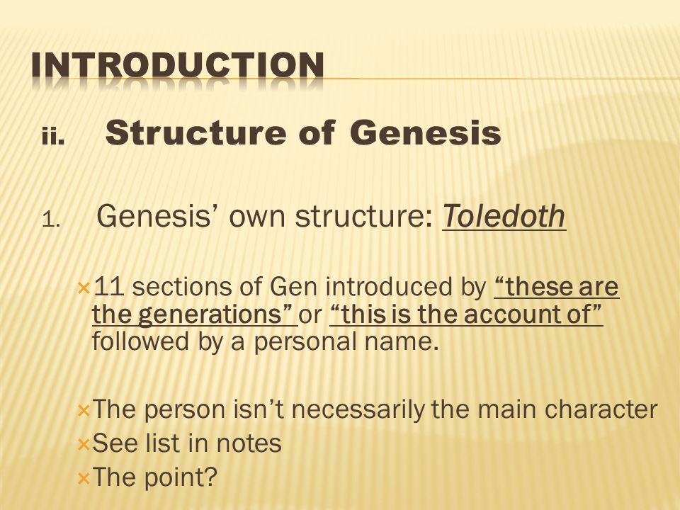 ii.Structure of Genesis 1.