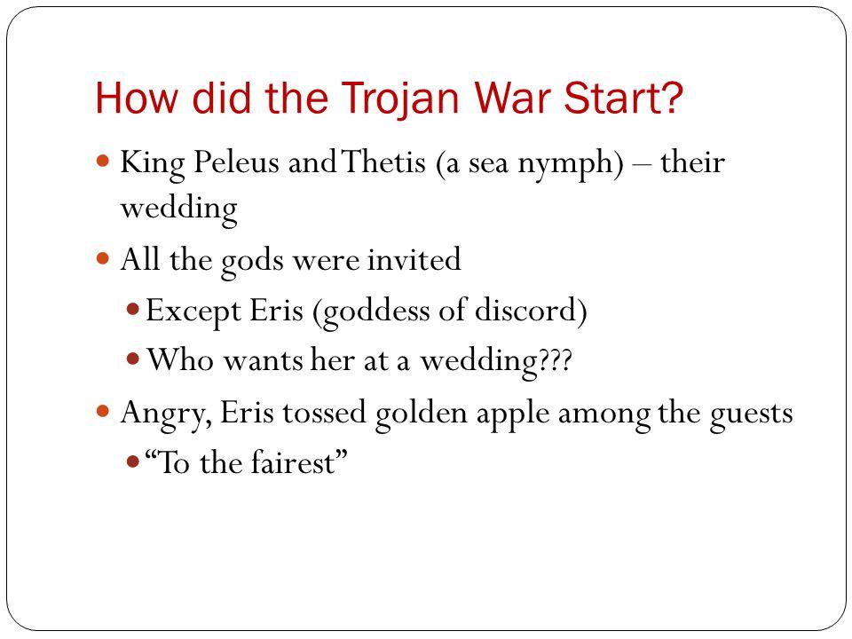 Trojan War continued Hera, Athena, and Aphrodite claimed the prize Zeus chose Paris (Trojan prince) to decide