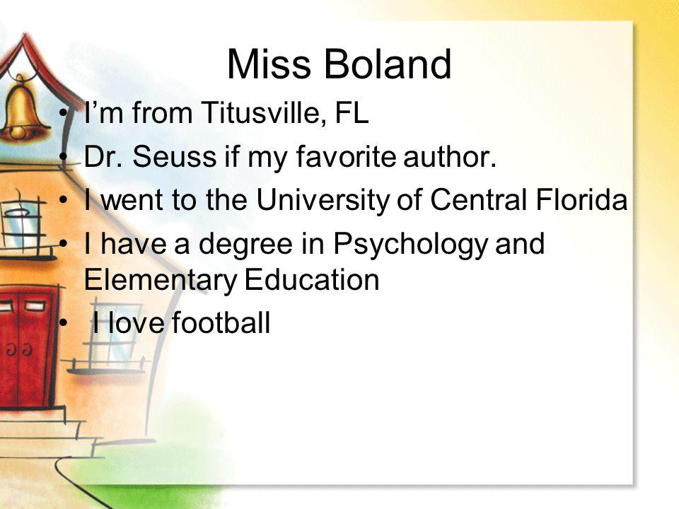 Miss Boland's 2 nd Grade Class Curriculum Night