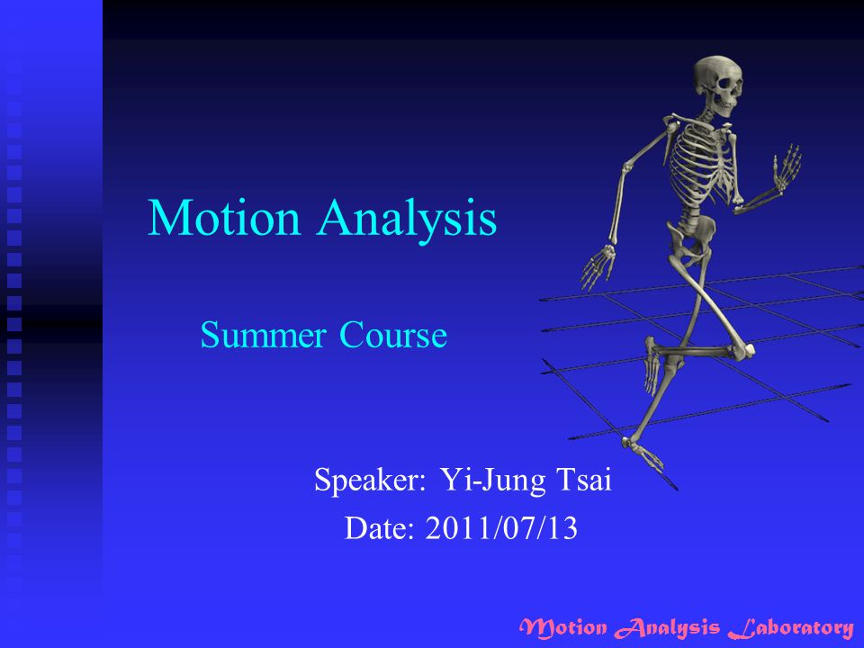 Motion Analysis Lab Experiments
