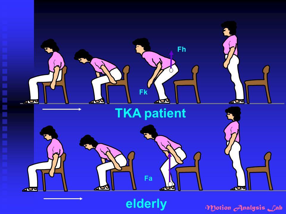 Motion Analysis Lab elderly TKA patient Fh Fk Fa