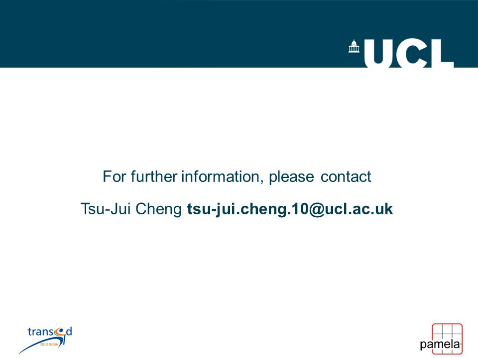 For further information, please contact Tsu-Jui Cheng tsu-jui.cheng.10@ucl.ac.uk