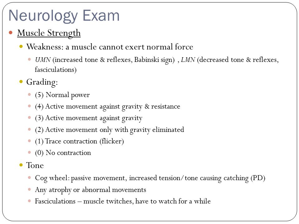Musculoskeletal Exam Gait Dysfunctions Vaulting: Stance leg excessively plantar flexes to allow toes of swing leg to clear the ground Circumduction: Swing leg excessively hip abducts so that the toes of swing leg can clear the ground Genu recurvatum: Backbending of knee causing excessive extension at the tibiofemoral joint due to weak quads or limited ankle dorsiflexion / excessive plantar flexion Ataxic gait: unsteady, uncoordinated walk, employing a wide base and the feet thrown out.