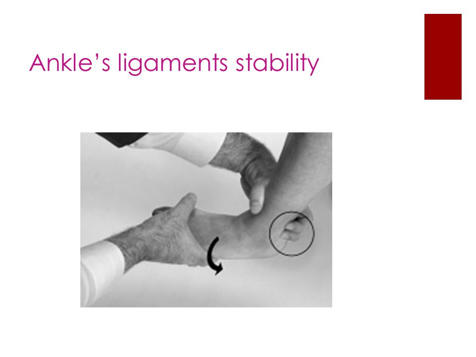 Ankle's ligaments stability