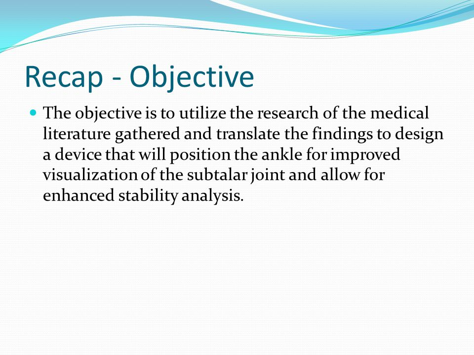 Recap – Radiographic Views Cobey view Hindfoot Alignment view Long axial view Stress Broden view