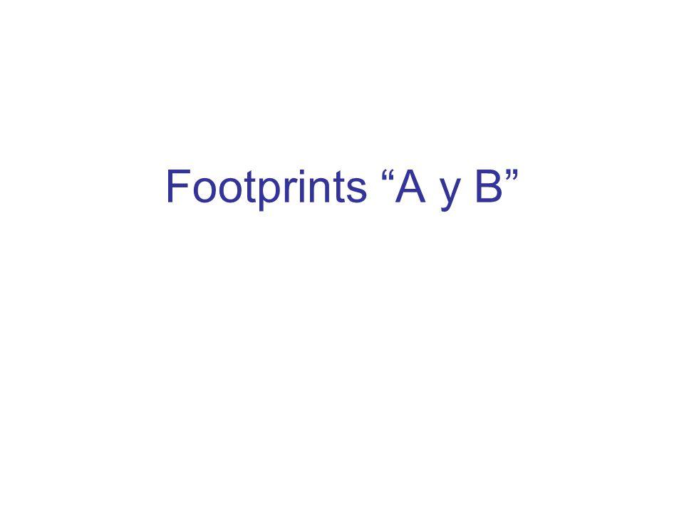 Footprints A y B