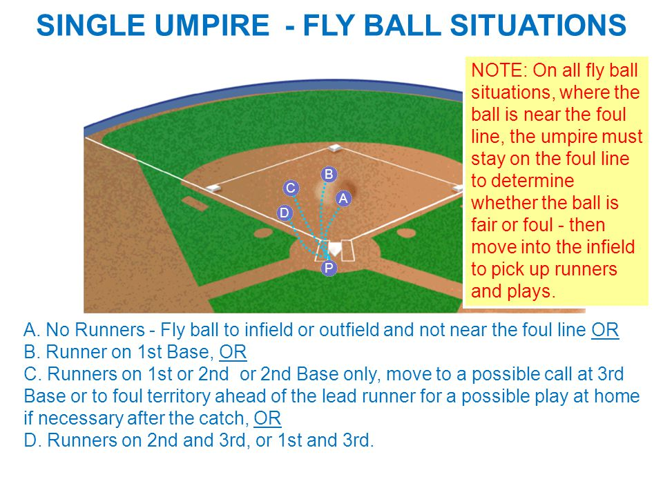 SINGLE UMPIRE - FLY BALL SITUATIONS A A.